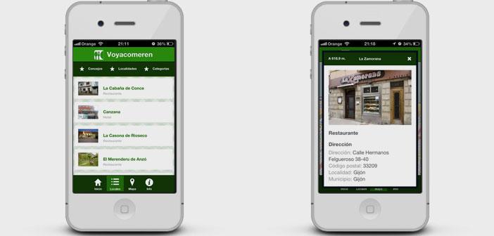 Una aplicación para smartphones y tablets llamada Voy a comer en muestra los restaurantes que hacen una gestión responsable de los residuos contaminantes.