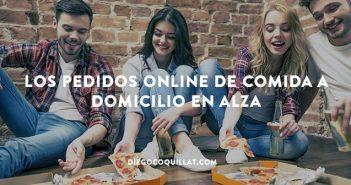 Los pedidos online de comida a domicilio se han duplicado en cinco años