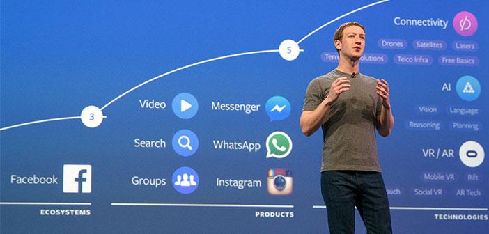 Mark Zuckerberg el creador de Facebook en acción.