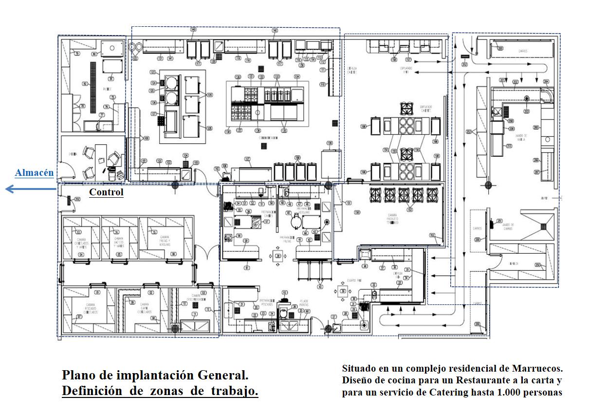 planos de cocinas plano un murete separa la cocina del