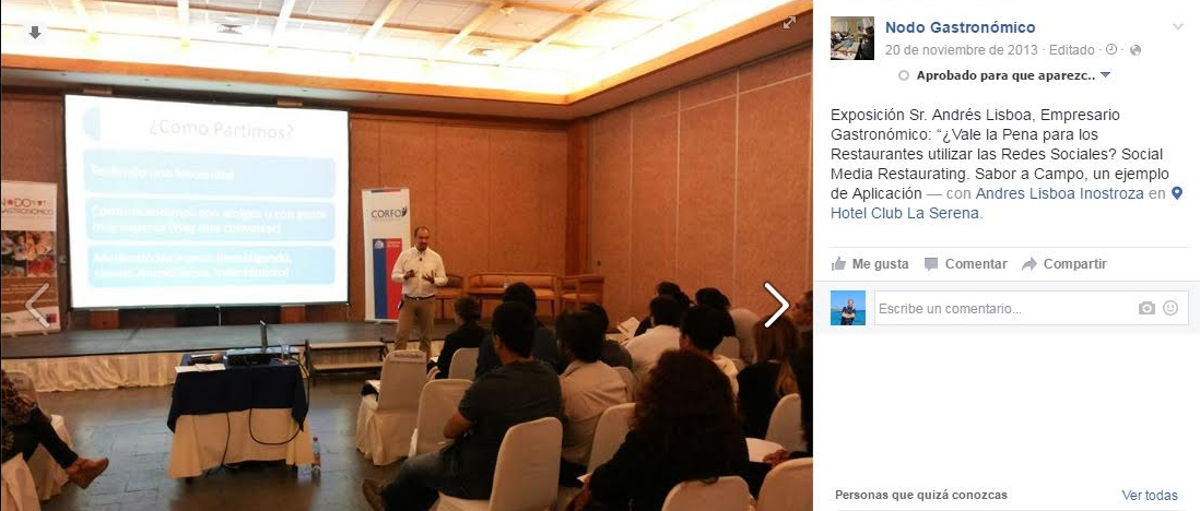 Andrés Lisboa dando una conferencia sobre SMR