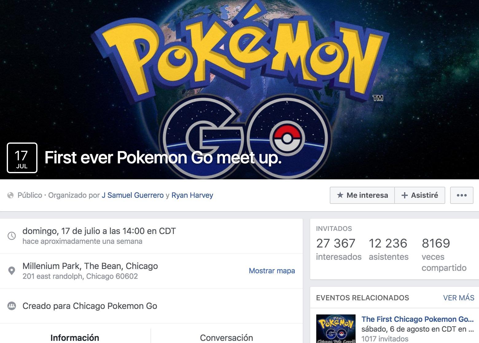 Fiesta de Pokémon Go en un restaurante