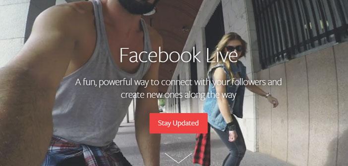 """El sistema es tan sencillo como entrar en Facebook desde tu smartphone y tocar el botón de """"transmitir""""."""