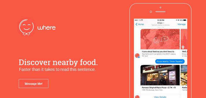Con este chatbot los turistas pueden consultar qué locales tienen cerca o qué tipo de comida pueden encontrar.