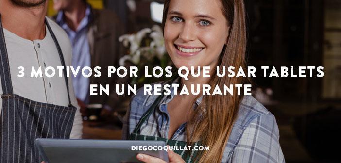 3 motivos por los que usar tablets en un restaurante