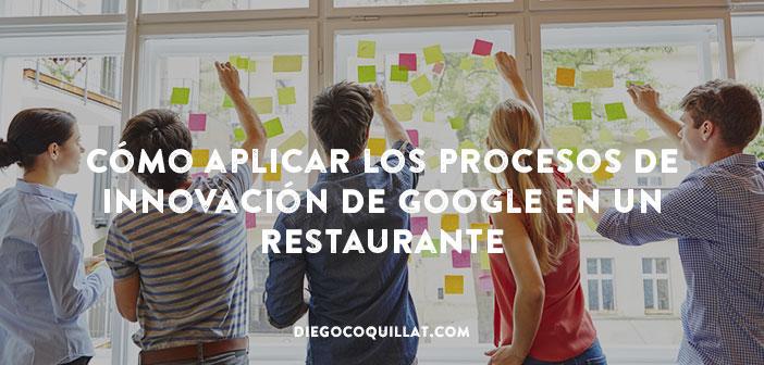 Cómo aplicar los procesos de innovación de Google en un restaurante