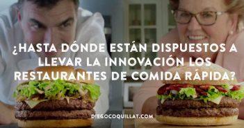 ¿Hasta dónde están dispuestos a llevar la innovación los restaurantes de comida rápida?