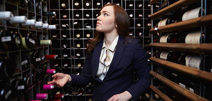 Heidi Turzyn, directora de la bodega del restaurante Gotham Bar and Grill en Nueva York.