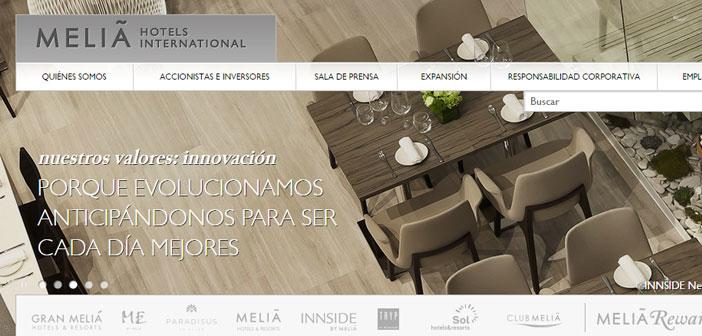 El gigante Meliá, líder mundial en complejos hoteleros, y líder en los mercados de Sudamérica y el Caribe, con hoteles y complejos.