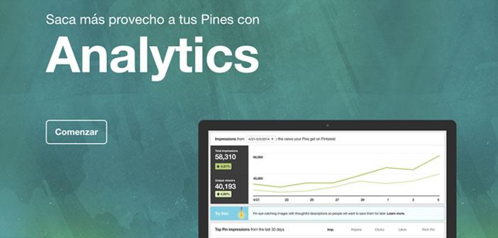 Y Pinterest lo pone fácil, ya que tiene una de las herramientas nativas para obtener información más poderosa del mundo online: Pinterest Analytics.
