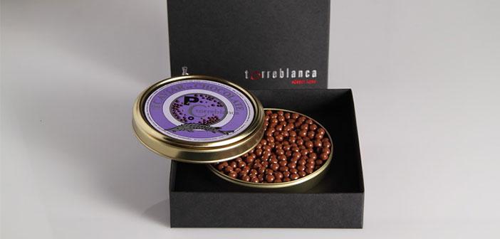 """La intensidad del chocolate en pequeñas perlas con corazón crujiente. Un delicatesen para gourmands. Caviar de chocolate Bolitas de cereales crujientes y frutos secos bañadas en chocolate 70%, servida en una lata """"ad hoc"""" similar a la del caviar de beluga."""
