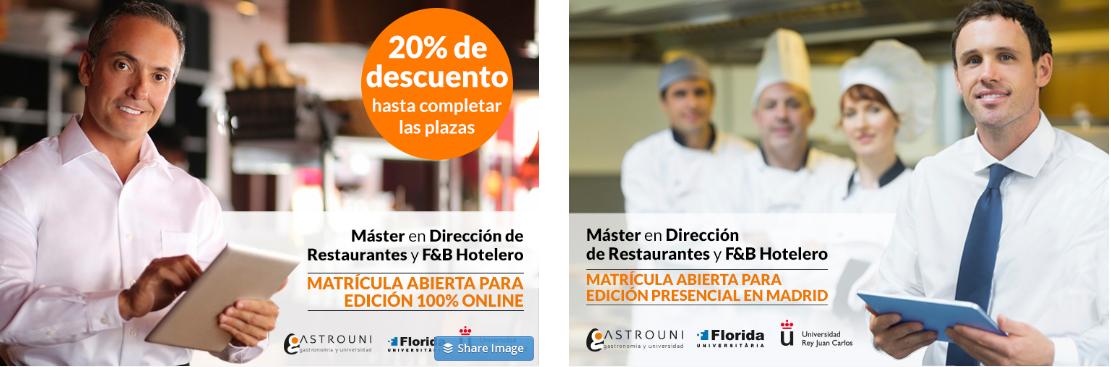 Máster en Dirección de Restaurantes y F&B Hotelero