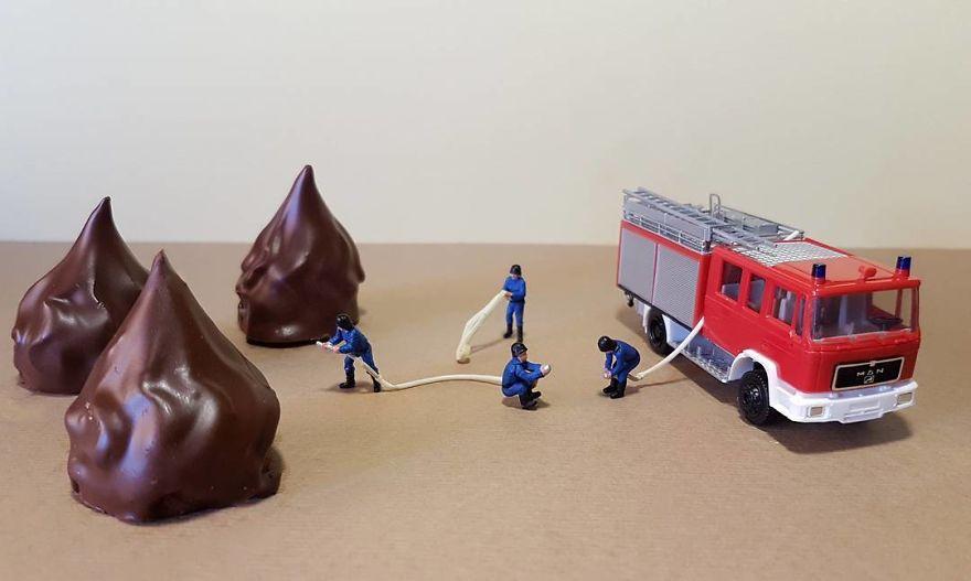 Colección: 40 postres que recrean increíbles escenas en miniaturas