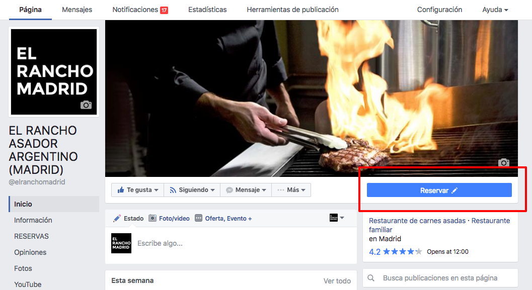 Facebook nos da la opción de crear una llamada a la acción visible a todos los usuarios que visitan nuestra Fanpage.