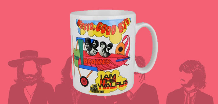 "Taza para té ""Hello Good Bye"" The Beatles."