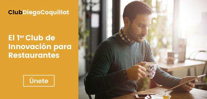ClubDiegoCoquillat, el primer Club Internacional de Innovación para Restaurantes, que nace con el objetivo de ofrecer un espacio digital capaz de aunar información, recursos y formación en torno a la innovación dentro de la industria de los restaurantes.