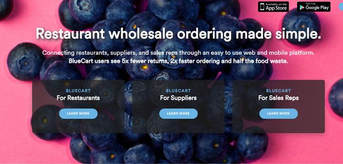 BlueCart es una aplicación enfocada a facilitar gestión de los proveedores de un restaurante. Funciona principalmente en EEUU, Sudamérica y algunos países de Europa, entre los que se encuentra España.