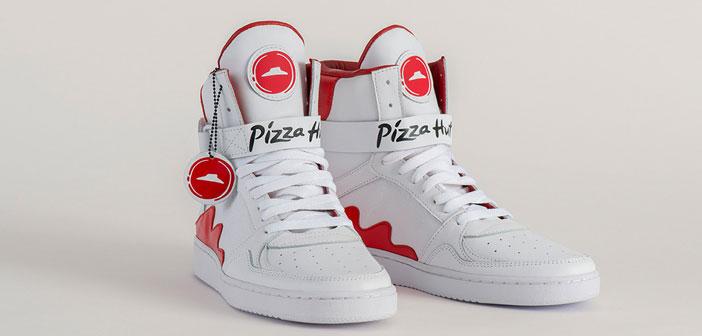 Pizza Hut crea las primeras zapatillas que llevarán la pizza directa de tus pies hasta tu boca.