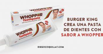 Burger King crea una pasta de dientes con sabor a Whopper