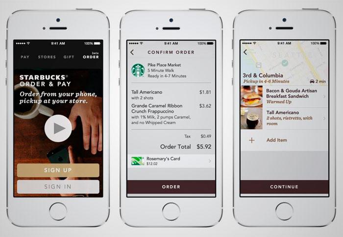 """En septiembre del 2015, Starbucks, una de las cadenas mundiales más importantes de café, lanzó oficialmente su servicio """"Mobile Order & Pay on the Starbucks"""". Básicamente consiste en la posibilidad de pedir y pagar a través de una aplicación móvil para posteriormente recoger tu pedido en la tienda seleccionada sin tener que esperar la cola."""