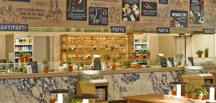 La franquicia en cuestión se llama Vapiano, y es simplemente espectacular. De ambiente agradable y natural, bien decorado, estilo propio, productos frescos y aromas intensos, todo en su justo equilibrio.