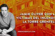 Jamie Oliver ofrece comida y refugio a las víctimas del incendio de la torre Grenfell de Londres