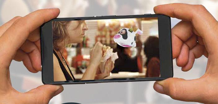 """El tercer módulo es el mundo virtual creado a modo de PokemonGO. Al apuntar a determinados lugares del restaurante, aparecerán unos """"bichitos"""" a los que han llamado Gous, los cuales por alcanzarlos, te dan un cupón de descuento que puedes canjear."""