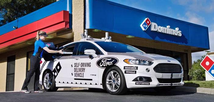 Domino's Pizza y Ford ha unido sus fuerzas para probar el nuevo coche de reparto autónomo, con la intención de que entre en funcionamiento en breve. Esta prueba tendrá lugar en Michigan, y en principio, el coche no irá completamente solo.