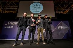 14-Los ganadores Goiko Grill-El Pimpi y Mario Sandoval con Diego Coquilat TheBestDR19