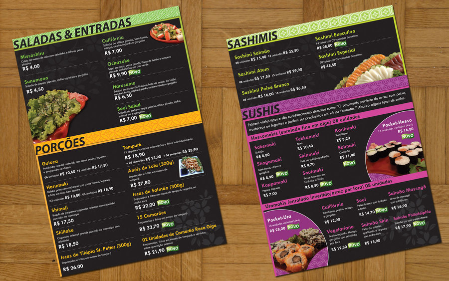 40 diseños de cartas de restaurantes para tu inspiración diego