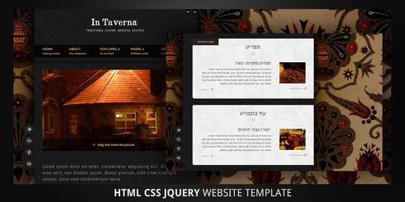 In Taverna-HTML5 Bi-Direction Website Template