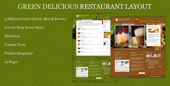 Green Delicious Restaurant Layout