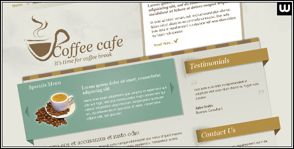 Coffee Cafe - HTML Site Template