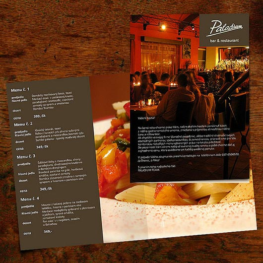 Company Menu Brochure