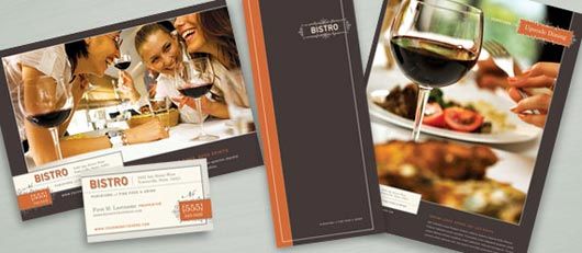 bistro restaurant marketing graphic design