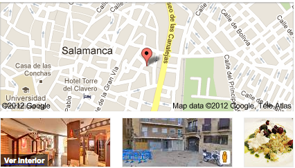 Un ejemplo de un restaurante que utliza  Google Business Photos