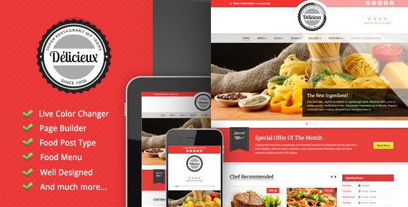 Delicious - Restaurant WordPress Theme