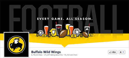 Buffalo Wild Wings, restaurant in social networks