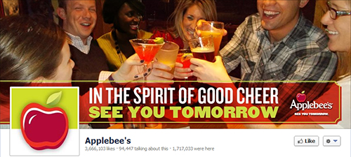 Applebee's Restaurant on social networks