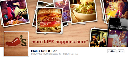 Chili's Grill & Bar restaurant in social networks