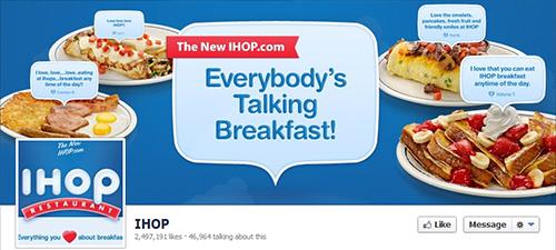 IHOP en restaurante Redes Sociales