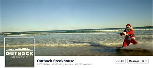 Outback Steakhouse in social networks
