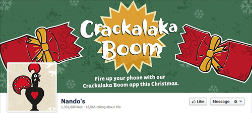 Nando's restaurant in social networks