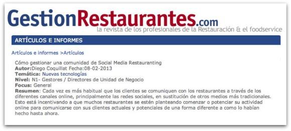 Cómo gestionar una comunidad de Social Media Restauranting