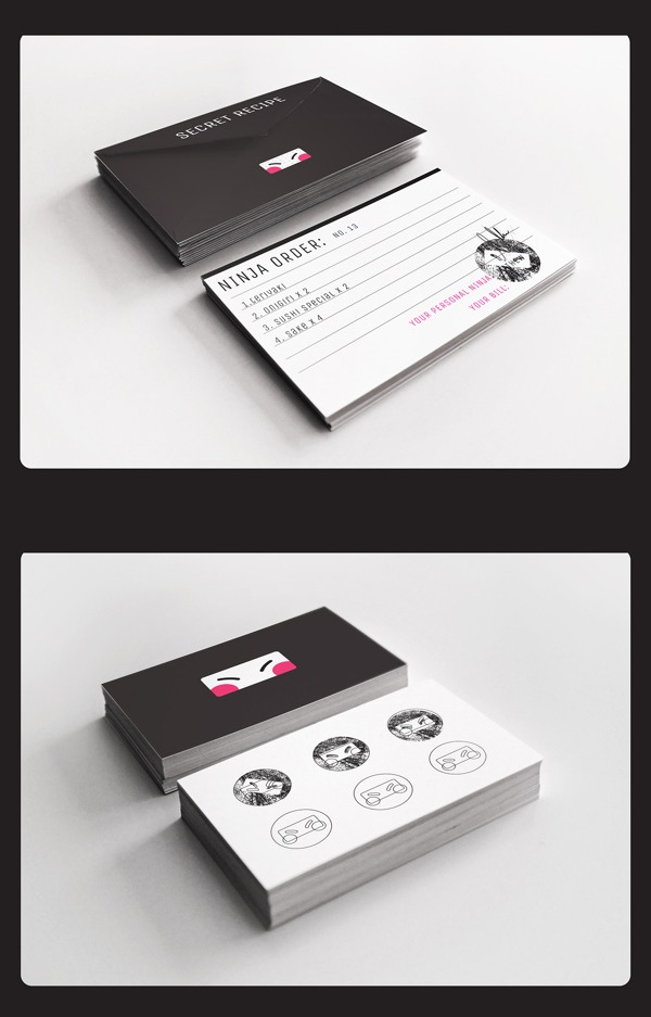 Cards for restaurants