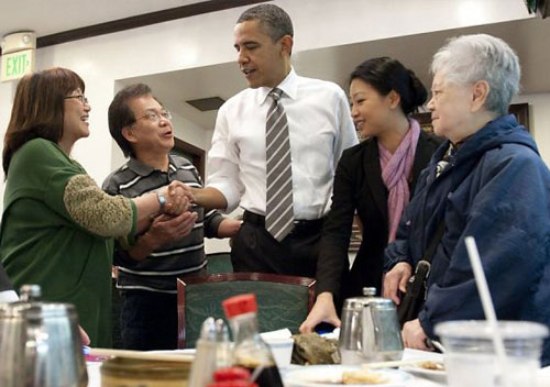 President-Obama at Great-Eastern-Restaurant-for-dim-sum-in-San-Francisco's-Chinatow