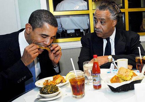 President-Obama at Sylvia's,-Harlem