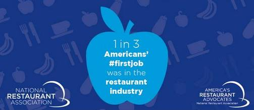 1 each 3 American acknowledges that his first job was in a restaurant