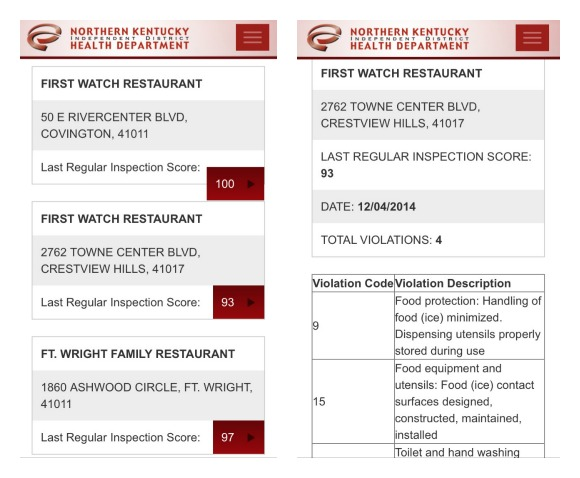 food safety in restaurants