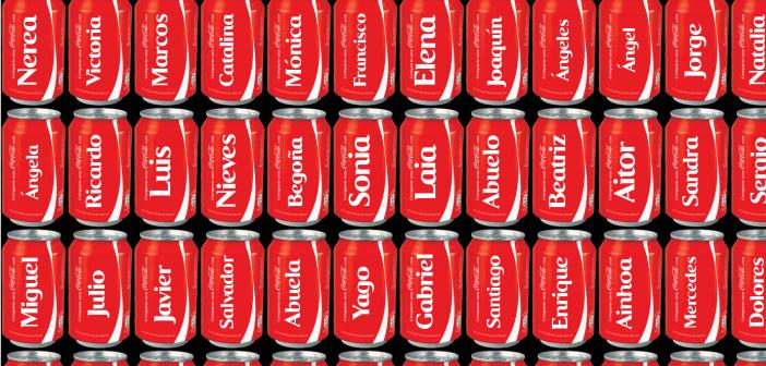 Nuevos nombres para las latas de Coca Cola